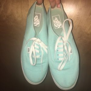 Barely worn turquoise vans sneakers